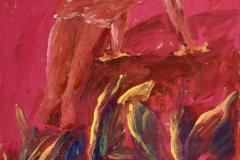 ABCDEF, 1992, olje, papir, 63,5 x 45 cm