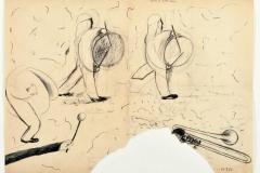 Koriandoli,1980, svinčnik, papir,50 x 70 cm