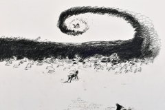 La visione di S. Eustachio, 2005/06, grafit/oglje,papir,71 x 100 cm